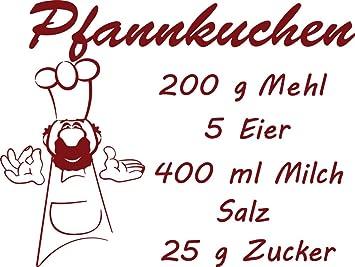 Grazdesign 620154 30 030 Wandtattoo Rezept Pfannkuchen Fur Kuchen