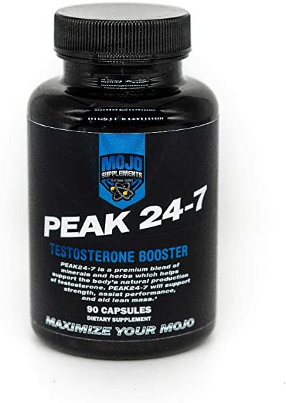 Peak 24-7 – Natural Testosterone Booster – Increase Strength, Stamina, Endurance, Lean Muscle, and Libido – Promote Fat Loss – Estrogen Blocker – Increase Male Performance – Guaranteed Results – 90ct