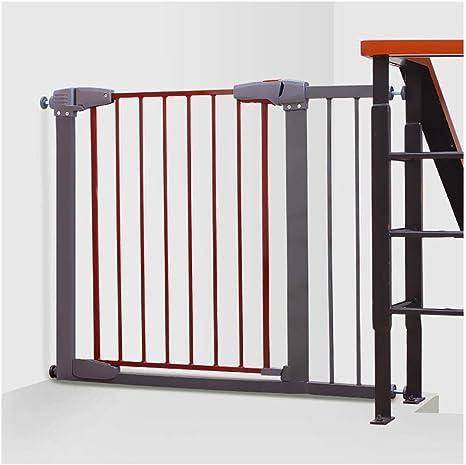 ZEMIN Barrera De Seguridad Escalera Puerta for Niños Perros Extensible Metal Encaja Aperturas Automático Cerrar, Multi-tamaño (Color : White-h 76cm, Size : W 77-83cm): Amazon.es: Hogar