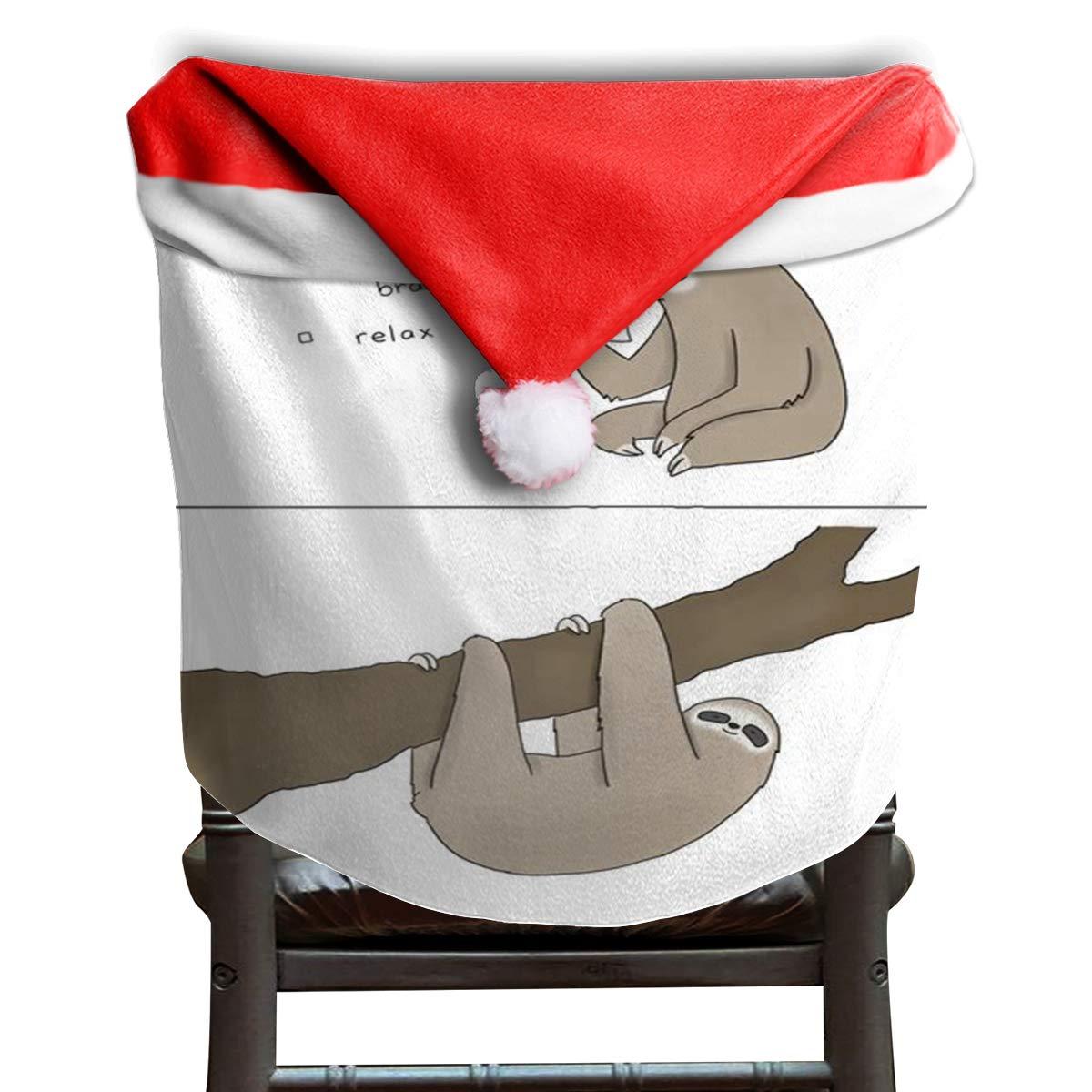 Christmas Hat Cartoon Transparent.Amazon Com Lovebea Christmas Hat Chair Covers Transparent