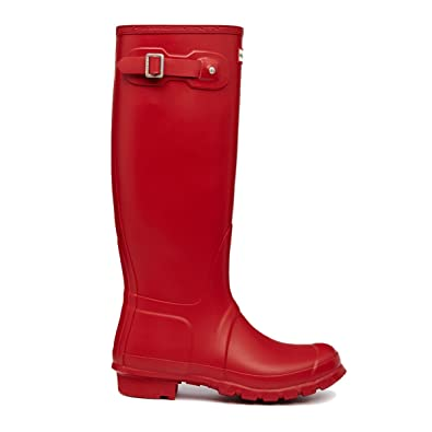 2d52c7606c Amazon.com | Women's Hunter Boots Original Tall Snow Rain Waterproof Boots  - Red - 10 | Rain Footwear