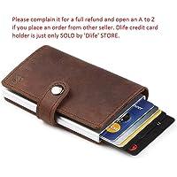 Dlife Genuine Cowhide Leather Men Women 36 Slots RFID Blocking Card Holder Large Long Leather Zipper Organizer Wallet