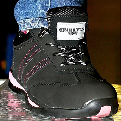 c00f474b4 Amblers Steel FS47 Ladies Safety Work Trainers Black: Amazon.co.uk: Shoes &  Bags