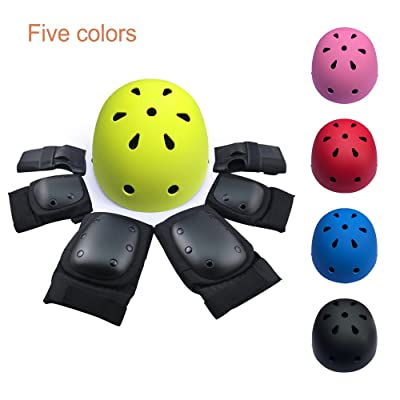 TechGO Protective Gear Suit, 7PCS of Wrist Guards, Knee Pads and Elbow Pads for Child/Adult Roller Bicycle BMX Bike Skateboard Hoverboard and Other Extreme Sports Activities : Sports & Outdoors