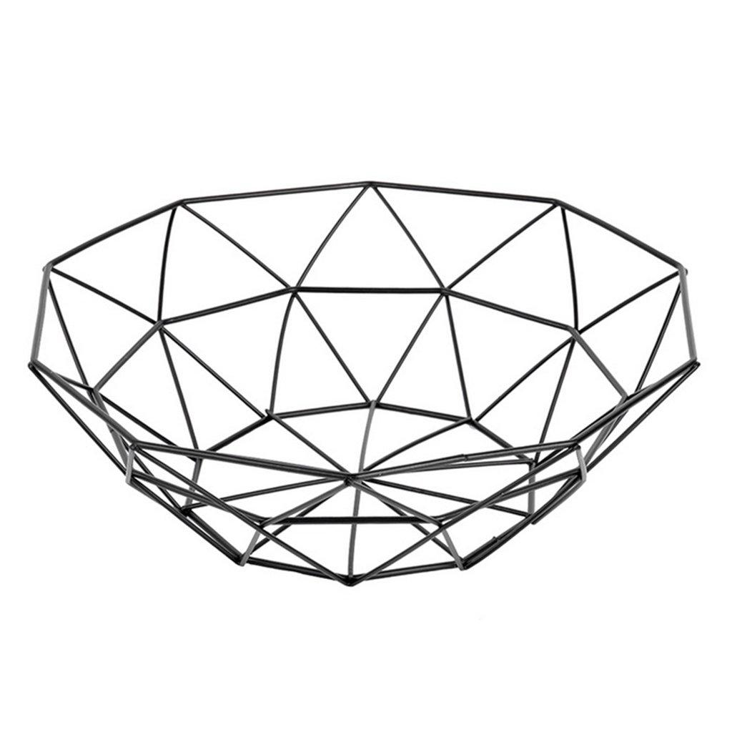 Dabixx Metal Fruit Vegetable Storage Bowls Kitchen Egg Baskets Holder Nordic Minimalism-C