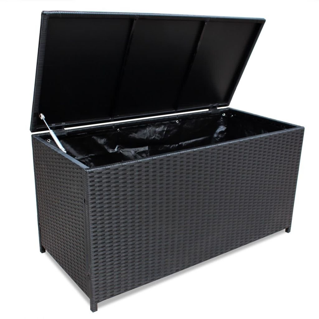 Festnight Outdoor Patio Garden Wicker Storage Chest Box for Cushions, Pillows, Pool Accessories 59