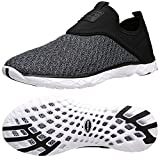 ALEADER Men's Slip-on Athletic Water Shoes Black/Gray 9.5 D(M) US