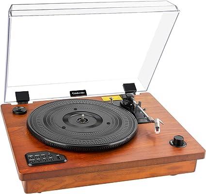 Tocadiscos Geekoala, reproductor de vinilo, Bluetooth, tocadiscos ...