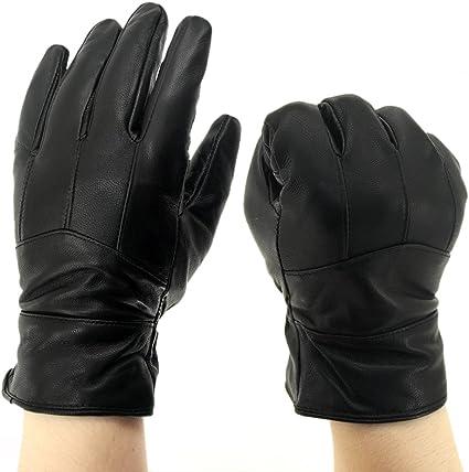 INES Lambskin Driving Gloves Motorcycle Cycling Men Winter Warm Duty Work Glove XL