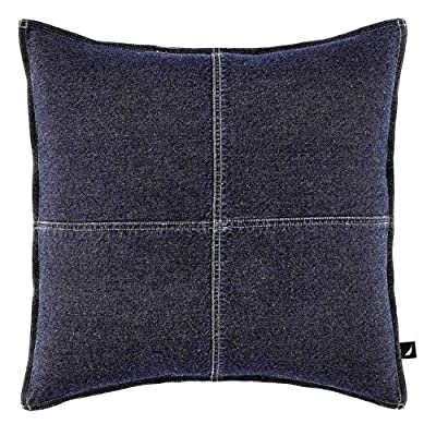 Nautica Seaward Denim 18-inch Decorative Pillow - Pieced with block design 100Percent Cotton denim Features double needle stitching - living-room-soft-furnishings, living-room, decorative-pillows, comforter-sets, bedroom-sheets-comforters, bedroom - 61q5oKEnsML. SS400  -