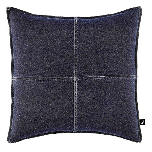 Nautica Seaward Denim 18-inch decorative pillow (Denim Throw)
