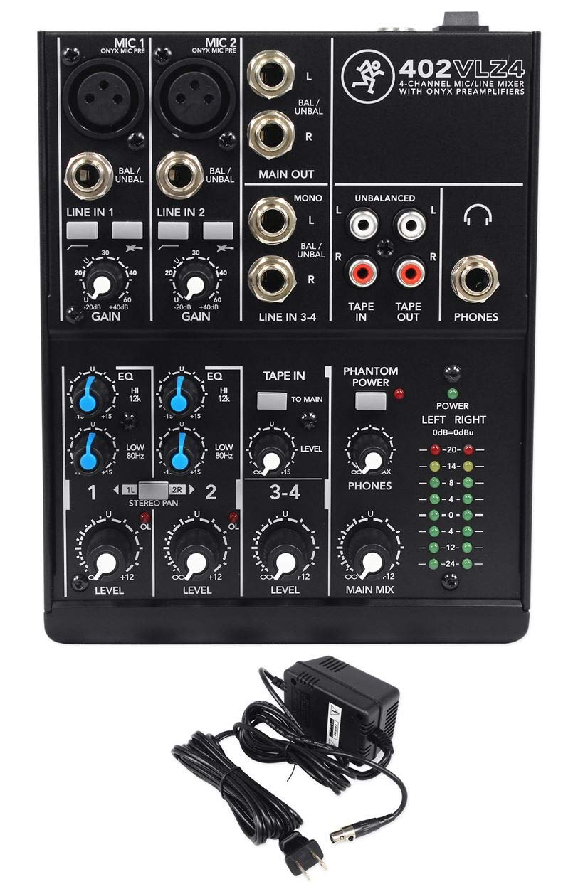 Mackie 402VLZ4 4-channel Soundboard Mixing Console Mixer For Church/School