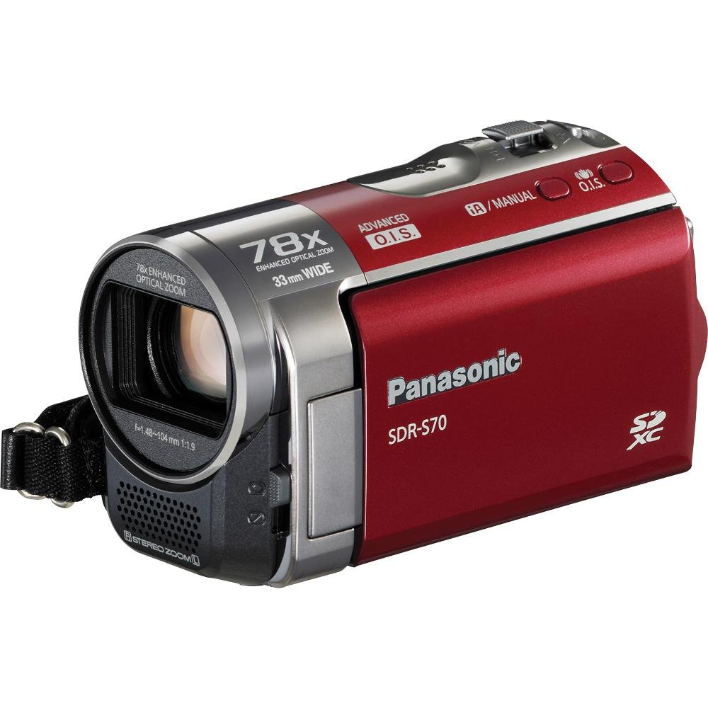 Amazon.com : Panasonic SDR-S70K Camcorder (Black) (Discontinued by  Manufacturer) : Camera & Photo