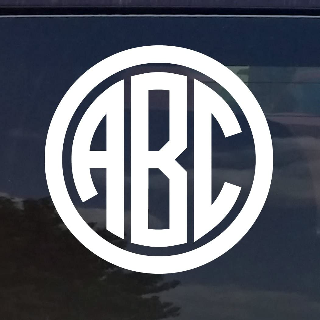 monogram decal for cars white