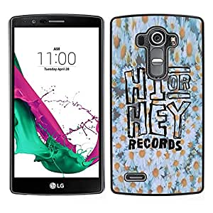 [Neutron-Star] Snap-on Series Teléfono Carcasa Funda Case Caso para LG G4 [Hi Hey Daisy Floral Pattern White Yellow]