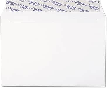 Columbian CO330 Grip-Seal Booklet Envelopes, Plain, 24lb, 6-Inch x9-Inch, 250/BX, WE