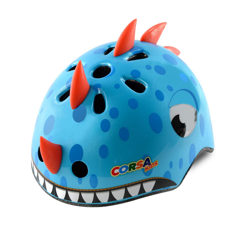 Crazy Mars Kids Bike Helmet Dinasour Helmet Blue S