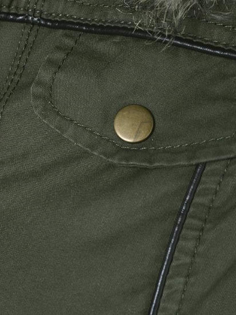 Khaki Ages 7 bis 13 SS7 M/ädchen /übergro/ße Kapuze Parka Mantel 158 Khaki