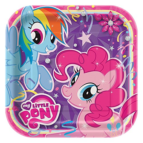 Square My Little Pony Dinner Plates, 8ct