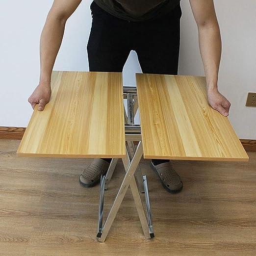 Alppq Mesa plegable Mesa para comer Mesa al aire libre Mesa de ...