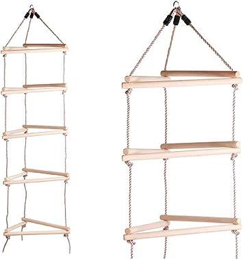 Gartenpirat Escalera Cuerda Triangular, niños, Exterior: Amazon.es ...