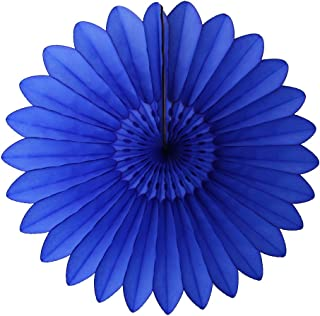 product image for 3-Pack 27 Inch Extra-Large Honeycomb Tissue Paper Party Fanburst Decoration (Dark Blue)