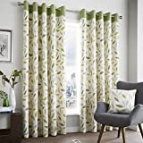 Beechwood Leaf Green Fully Lined Eyelet Grommet Top Curtains > 46″ Wide x 54″ Drop Review