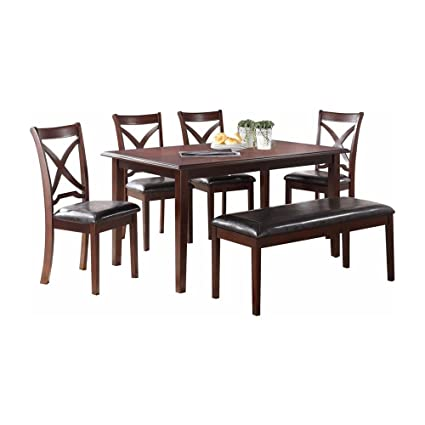 Image Unavailable Not Available For Color Malta Casual 6 Piece Rectangle Dining Table