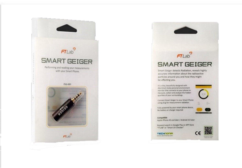 Smart Geiger Radiation Counter Gamma X-Ray Semiconductor Sensor Earphone Jack FTLab