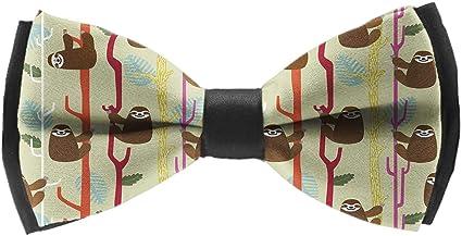 Mens Sloth Tree Cute Classic Casual Tie Necktie