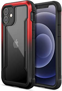 Raptic Shield Case Compatible with iPhone 12 Pro Max Case, Shock Absorbing Protection, Durable Aluminum Frame, 10ft Drop Tested, Fits iPhone 12 Pro Max, Black & Red