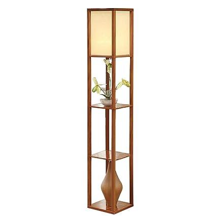 Lámpara De Pie con Estante LED - Luz Permanente Moderna para ...