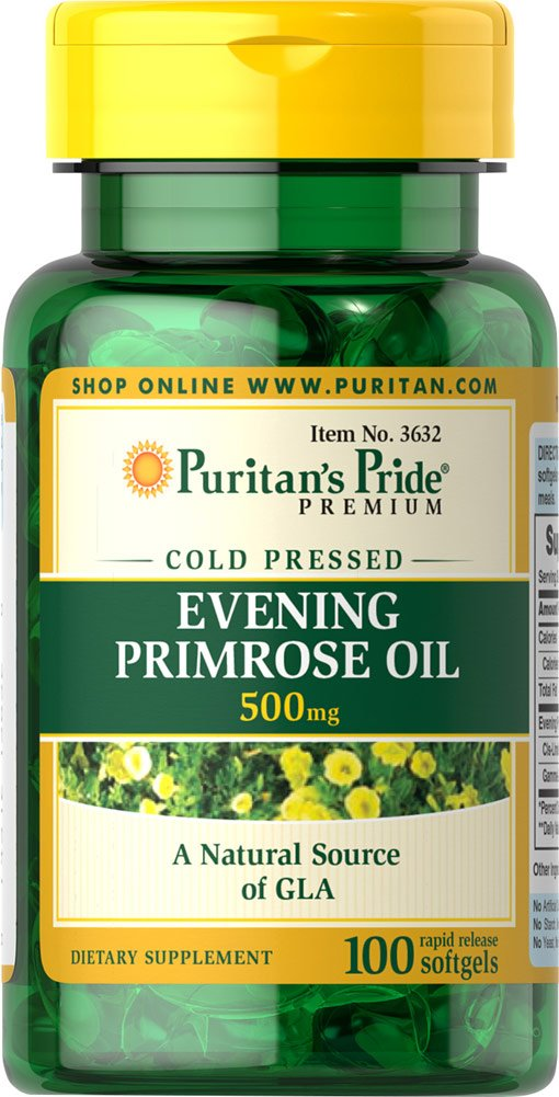 Amazon.com: Puritans Pride 2 Pack of Evening Primrose Oil 500 mg with GLA Puritans Pride Evening Primrose Oil 500 mg with GLA-100 Softgels: Health ...
