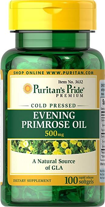 Puritans Pride 2 Pack of Evening Primrose Oil 500 mg with GLA Puritans Pride Evening Primrose