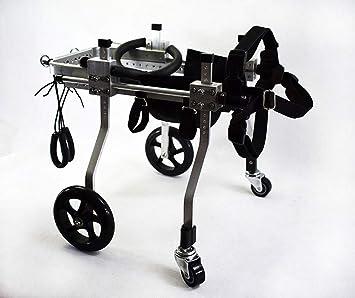 Carrito para perros, adecuado para mascotas patas traseras para practicar la discapacidad de las extremidades