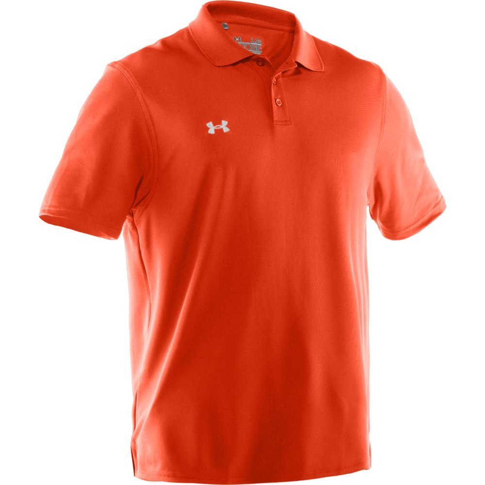 Under Armour Team Performance Polo Texas Orange/White X-Large