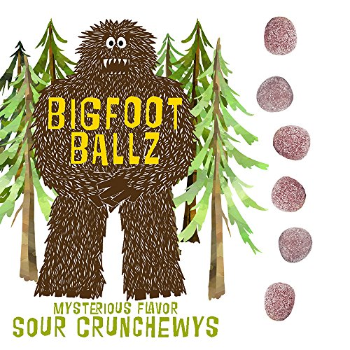 Bigfoot Ballz Sour Candy - Crunchewy Balls - MADE IN THE USA - Best Funny Adult Men's Gag Gift FATHER'S -