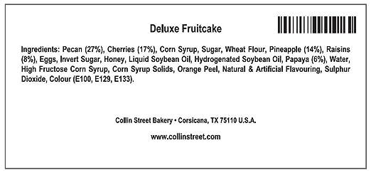DeLuxe® Fruitcake 1 lb  14 oz  Collin Street Bakery