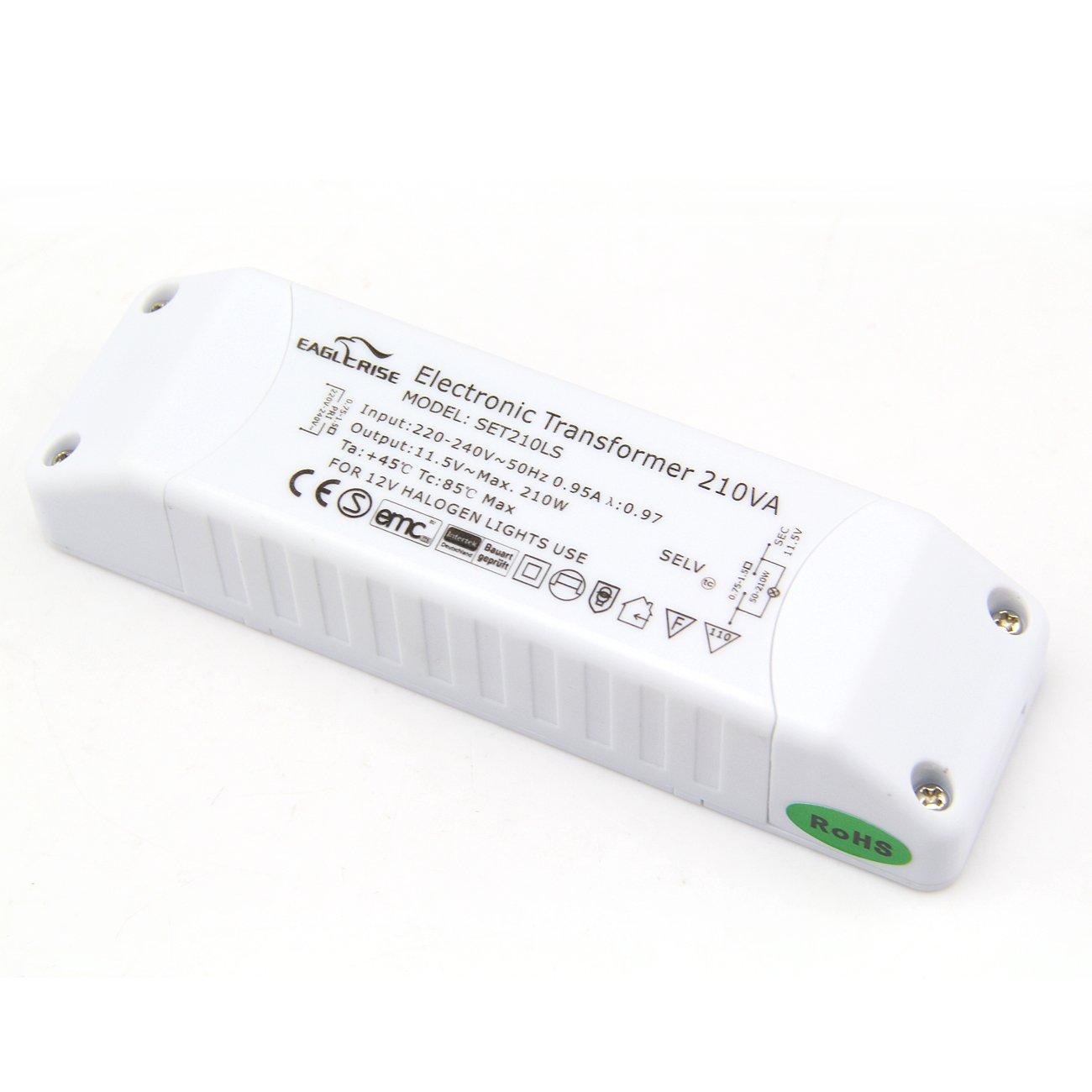 EAGLERISE for AC 230V AC to 12V Halogen Light Electronic Transformer 50–210W