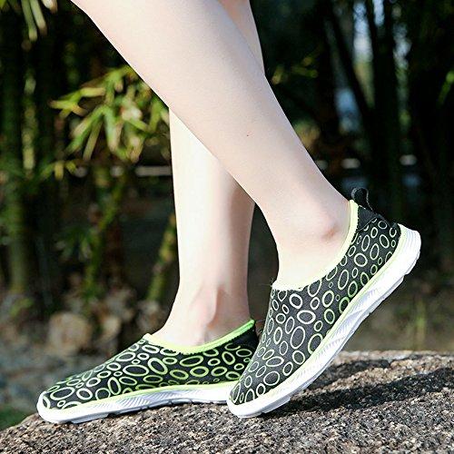 Aqua Yellow Women's COSDN Fangle Shoes Drying Quick Water zwIzpdB0n