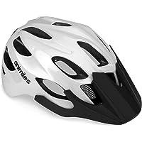 ANIMILES - Casco de bicicleta para adultos para hombre y mujer, ajustable, ligero, con visera y luz trasera recargable…