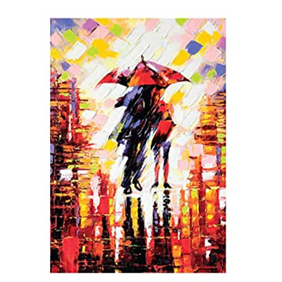 Autumn Puzzle Rainy Night Romantic Couple Large Paper Puzzle 1000 Pieces Jigsaw Puzzle Kids Adult: Toys & Games