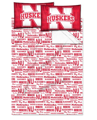 NCAA Nebraska Cornhuskers NCAA Full Sheet Set, Scarlet, Full Size