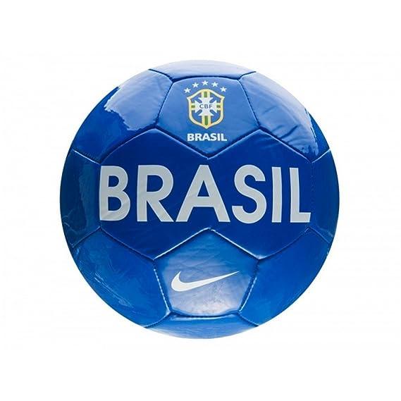 Nike - Balón fútbol texto Brasil (Talla 5/Azul): Amazon.es: Ropa y ...