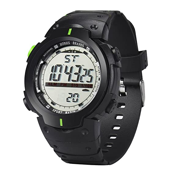 Digitale Uhren Wasserdicht Datum Led Digital Sport Quarz Analog Mens Military Armbanduhr Sport Elektronische Uhren Uhren