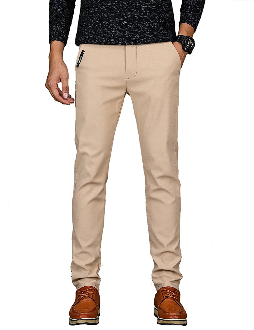 VEGORRS Men's Straight-Fit Work Wear Casual Pants