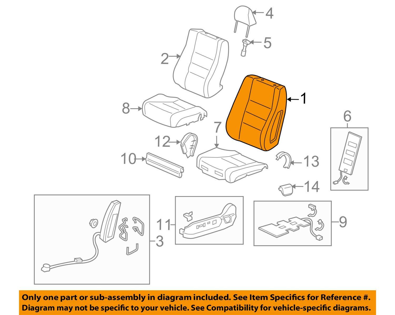 81127-TP6-A01 Honda Genuine Seat Back Pad with OPDS Sensor