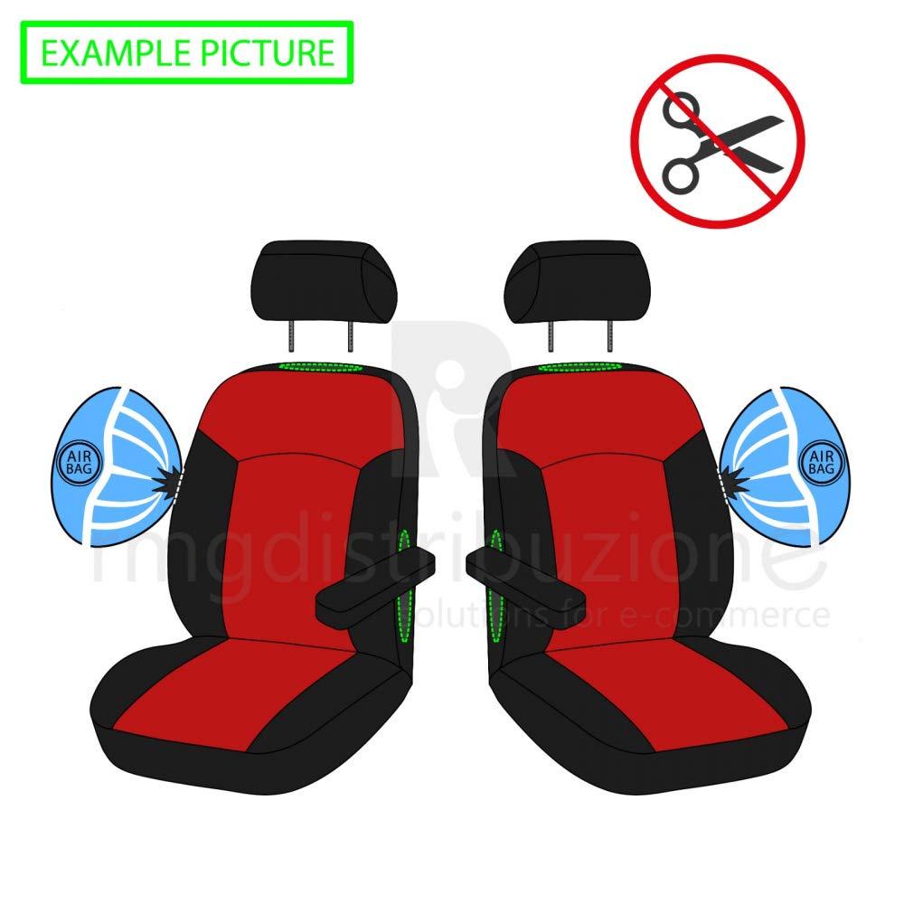 sedili Posteriori sdoppiabili Colore Nero Blu R05S0292 bracciolo Laterale 2010-2015 rmg-distribuzione Coprisedili per ix35 Versione compatibili con sedili con airbag
