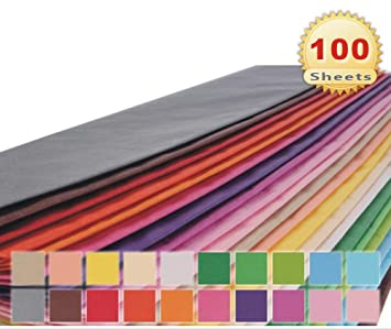 Amazon Com 20 X 26 Gift Wrap Tissue Paper 20 Colors 100 Sheets