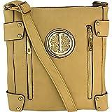 MKF Collection Women's Fanisa Cross-Body Shoulder Bag, Beige